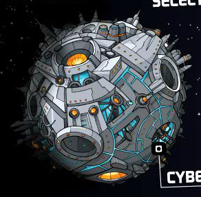 Planet Cybertron, from the cartoon