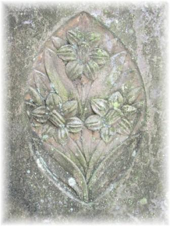Stone carved with flowers
